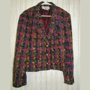 16 Carlisle Tweed Vibrant Multi Color Jacket